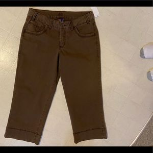 Jag Pelly Crop Jean Shorts n Brown size 16